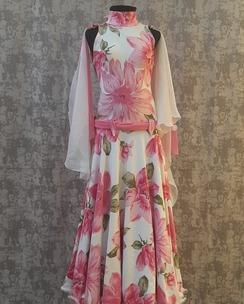 Плаття стандарт біло - рожевий