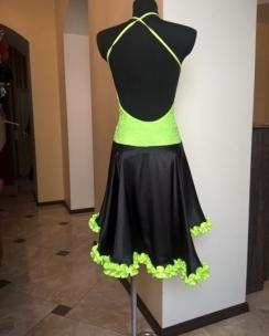 Плаття Латина чорно-салатова. Фото 2