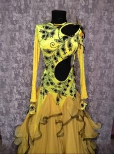 Плаття Стандарт чорно-жовте. Фото 2