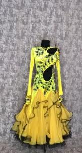 Плаття Стандарт чорно-жовте