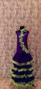 Плаття Стандарт фіолетово-салатове