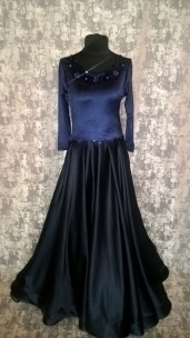 Плаття стандарт темно-синього кольору