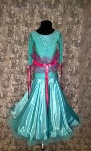 Плаття Стандарт бірюзового кольору